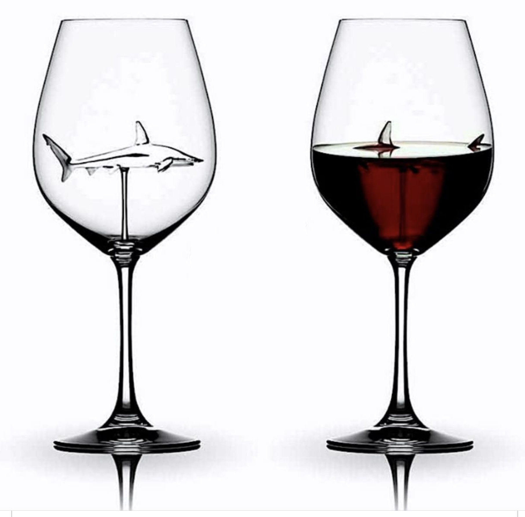 The Shark Wine Glass